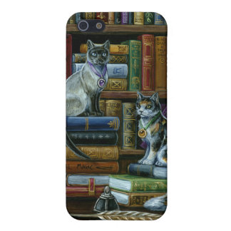 Higher Learning Library Cats Cover For iPhone SE/5/5s