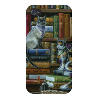 Higher Learning Library Cats iPhone4 Case