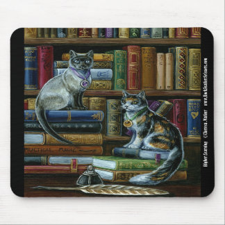 Higher Learning Library Cats Mousepad