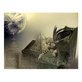 Higher Learning Steampunk Fairy Postcard