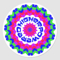 Higher Powered Classic Round Sticker