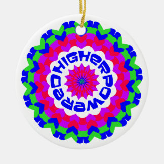 Higher Powered Double-Sided Ceramic Round Christmas Ornament
