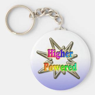 Higher Powered Basic Round Button Keychain