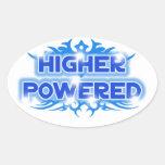 Higher Powered Oval Sticker