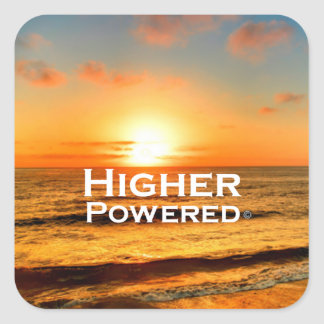 Higher Powered Square Sticker