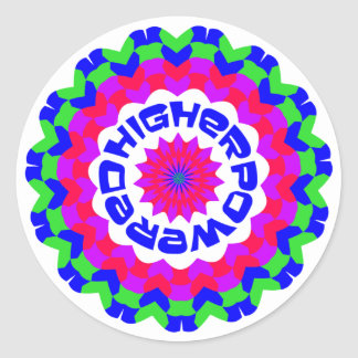 Higher Powered Classic Round Sticker
