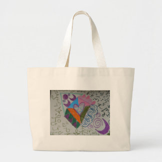 Higher self activation large tote bag