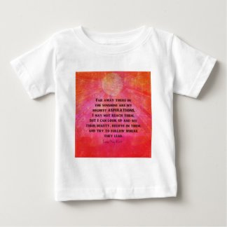 Highest Aspirations quote Louisa May Alcott Baby T-Shirt