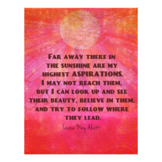 Highest Aspirations quote Louisa May Alcott Letterhead