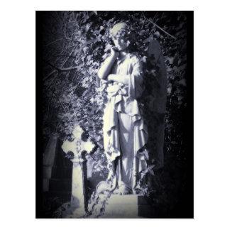 Highgate Cemetery Angel Goth Fantasy Postcard