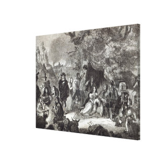 Highgate Fields during the Great Fire of London Canvas Print
