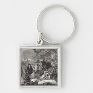 Highgate Fields during the Great Fire of London Keychain