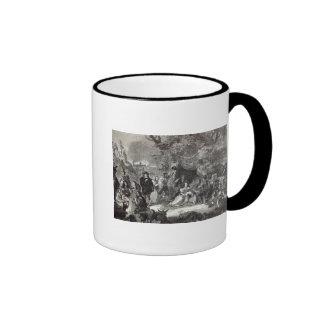 Highgate Fields during the Great Fire of London Ringer Mug