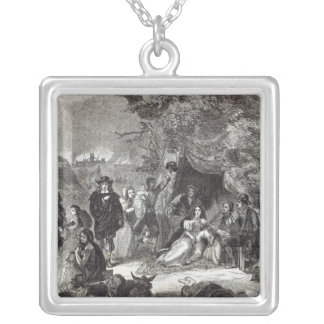 Highgate Fields during the Great Fire of London Silver Plated Necklace