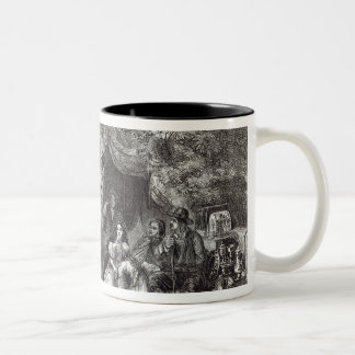 Highgate Fields during the Great Fire of London Two-Tone Coffee Mug