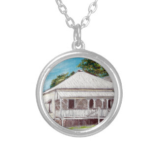 Highgate Hill Old Queenslander Silver Plated Necklace