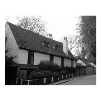 Highgate old house by park postcard