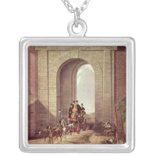 Highgate Tunnel, engraved by George Hunt, c.1830 Personalized Necklace