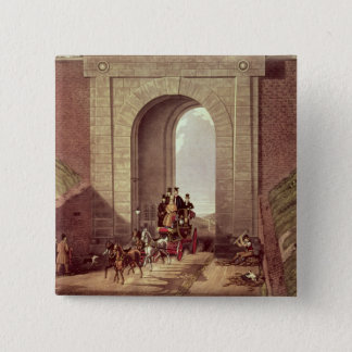 Highgate Tunnel, engraved by George Hunt, c.1830 Pinback Button