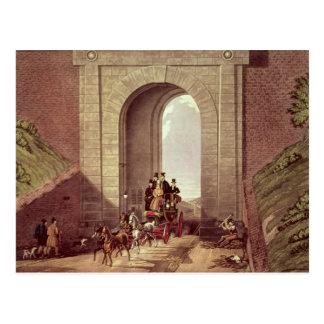 Highgate Tunnel, engraved by George Hunt, c.1830 Postcard