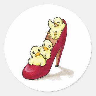 Highheel Chicks Classic Round Sticker