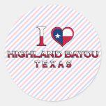Highland Bayou, Texas Classic Round Sticker