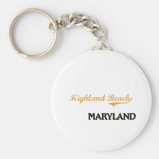 Highland Beach Maryland Classic Key Chains