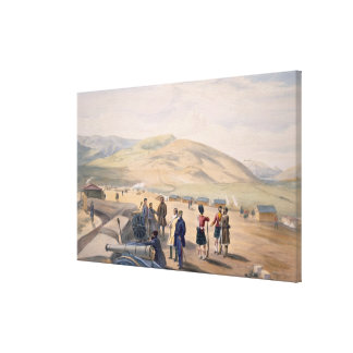 Highland Brigade Camp, plate from 'The Seat of War Canvas Print