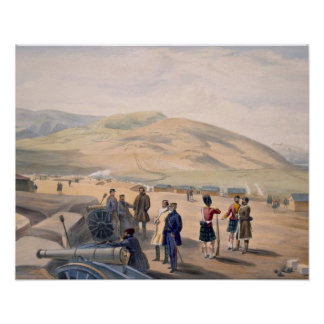 Highland Brigade Camp, plate from 'The Seat of War Poster