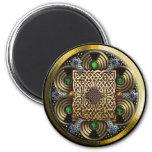 highland brooch magnet