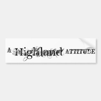 Highland Bumper sticker