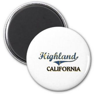 Highland California City Classic 2 Inch Round Magnet