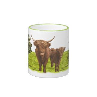 Highland cattle 02 ringer mug