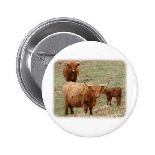 Highland Cattle 9Y316D-017 2 Inch Round Button
