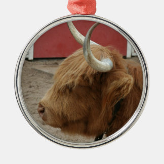 Highland Cattle Cow Metal Ornament