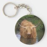 Highland Cattle Keychain