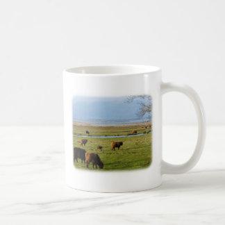 Highland Cattle near Loch Leven 9T076D-010 Coffee Mug