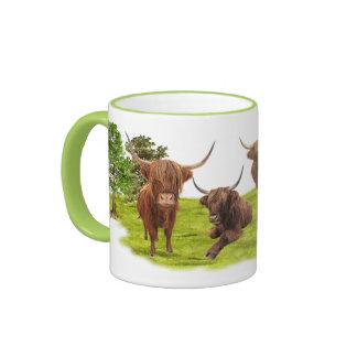 Highland cattle ringer mug