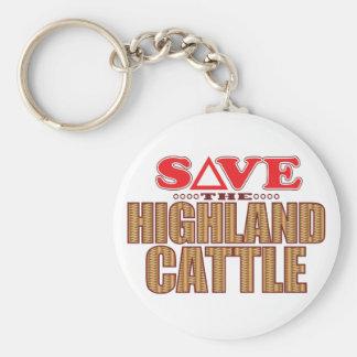 Highland Cattle Save Keychain