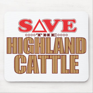 Highland Cattle Save Mouse Pad