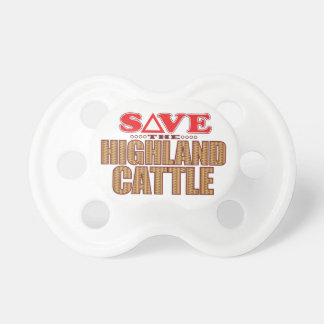 Highland Cattle Save Pacifier