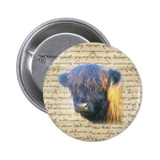Highland cow 2 inch round button