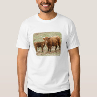 Highland Cow and calf 9Y316D-045 T-shirts