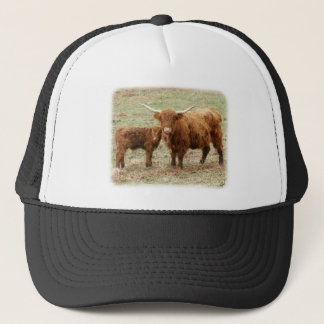 Highland Cow and calf 9Y316D-045 Trucker Hat