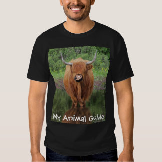 Highland cow animal guide shirt