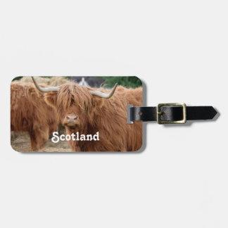 Highland Cow Bag Tag