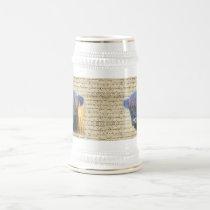 Highland cow beer stein