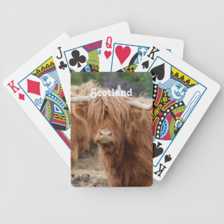 Highland Cow Bicycle Playing Cards