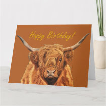 Highland Cow Birthday Card