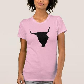 Highland Cow Black Print T-Shirt